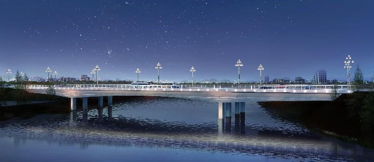 桐柏县基础设施道路桥梁米乐网电脑版下载安澜路跨越淮河桥梁米乐网电脑版下载
